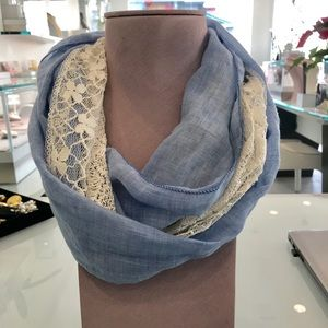 Other - Girls Chambray and Lace Infinity Scarf